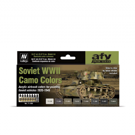 Vallejo Model Air Soviet WWII Camo Colours Paint Set